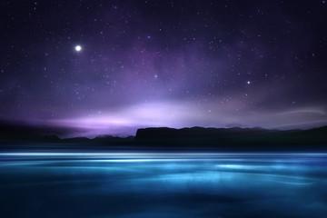Distant magical alien fantasy landscape
