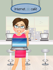 girl in Internet cafè