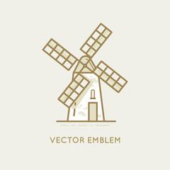 Windmill - bakery emblem