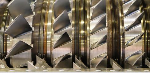blades in a gas turbine engine
