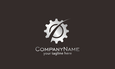 Techno - vector logo template concept illustration. Gear factory sign. Technology mechanical symbol. Design element.