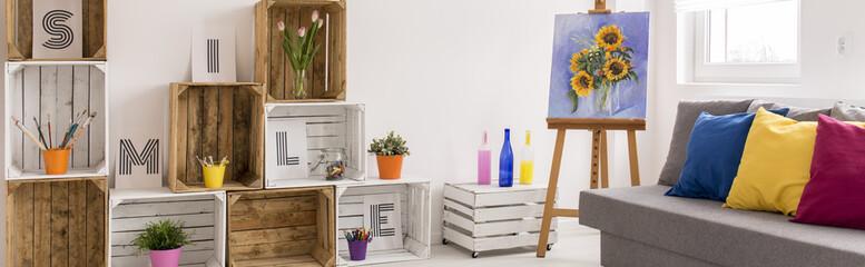 Simple wooden box - amazing decorative effect