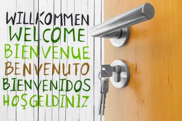 offene Tür Herzlich Willkommen