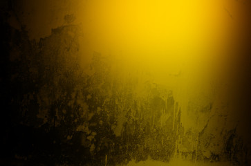Grunge brushed gold metal texture ; abstract industrial or Halloween background