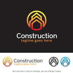 Construction House Logo Template Design Vector
