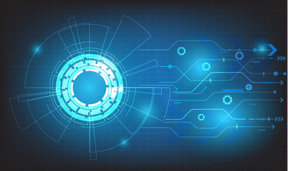 vector tech circle and technology background,digital business background.