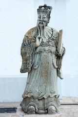 Sculpture of chinese person,Antique stone carving doll.
