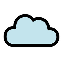 cute cloud isolated icon vector illustration design