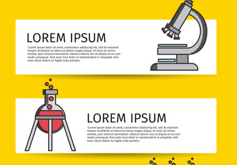 Heavy Outline Cartoon Style Science Infographic