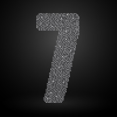 Silver sequins sings. Sequins alphabet. Eps 10.
