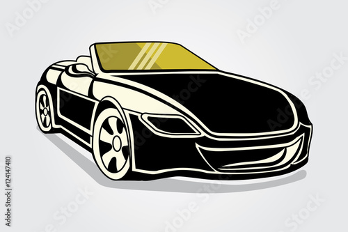 Open Roof Modern Sport Car Stock Image And Royalty Free Vector