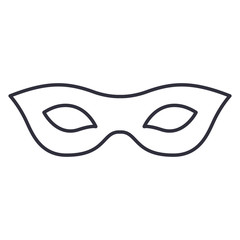 Mask icon. Masquerade carnival costume and party theme. Isolated design. Vector illustration