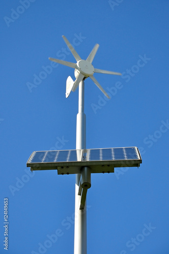 support with moving small wind turbine and installed solar panels ...