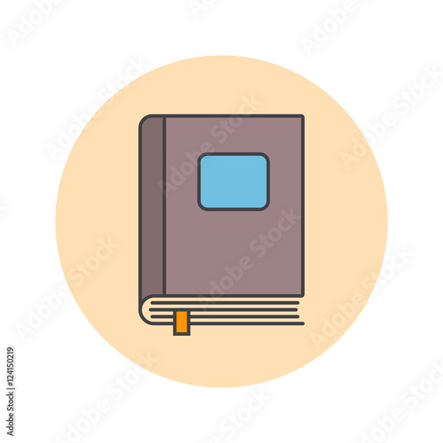 """""""Closed book thin line icon, filled outline vector logo ..."""