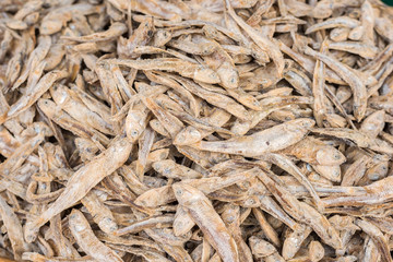 Dried fish in the market