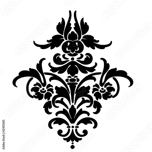simple damask stencil - 546×640