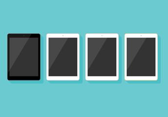 Tablet Flat Vector Mockups