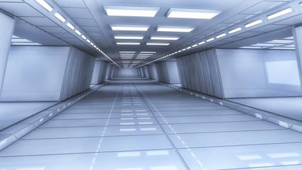 Futuristic spaceship interior architecture