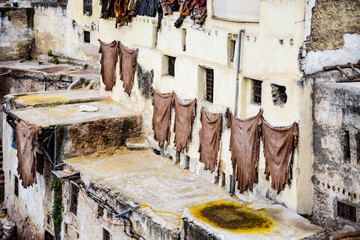 historic tannery in marrakesh, morocco