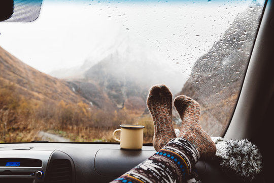 Autumnal travel concept