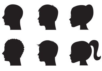 9 Profile Silhouette Illustrations