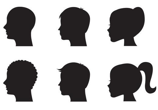9 Profile Silhouette Illustrations