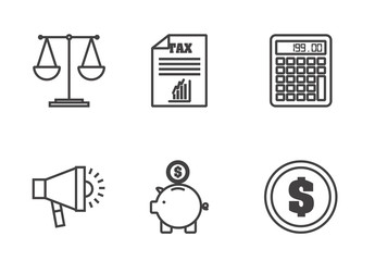 16 Black and White Banking and Personal Finance Icons