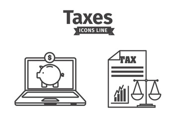 4 Large Black and White Banking and Personal Finance Icons