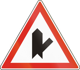 Belgian regulatory road sign - Intersection with priority