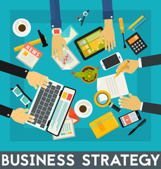 Business Strategy Concept Banner