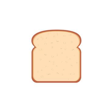 flat design single bread slice icon