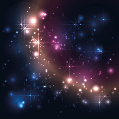Universe, galaxy with stars, abstract vector