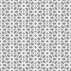 Geometric Islamic pattern, monochrome vector background