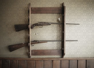 Gun Rack With Guns