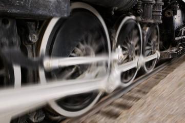 Closeup Of A Train