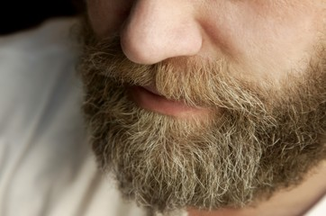 Closeup Of Man's Beard