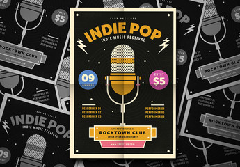 Indie Pop Music Festival Flyer