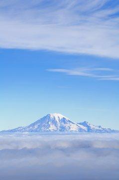 Fog, Mount Rainier, Washington Cascades, Washington, United States Of America