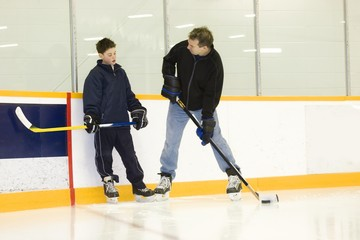 Coaching Hockey Player