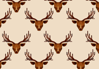 Polygonal Moose Head Pattern