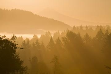 Sunrise With Mount Hood, Cascade Mountains, Oregon, United States Of America