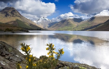 Mountains And Lake, Lake District, Cumbria, England, United Kingdom