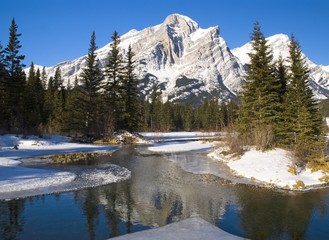 Mount Kidd, Banff National Park, Alberta, British Columbia, Canada