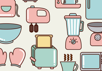 17 Cute Pastel Kitchen Item Icons