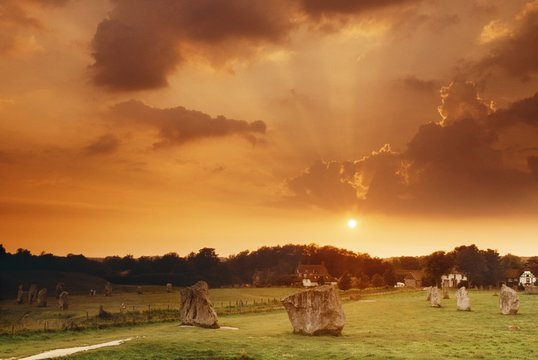 Avebury Prehistoric Stone Circle, Wiltshire, England