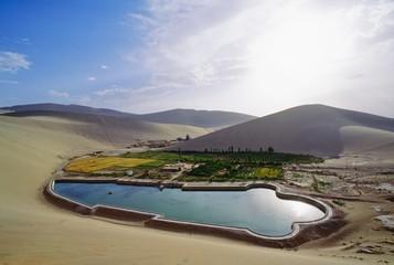 Oasis, Dunhuang, Gansu, China