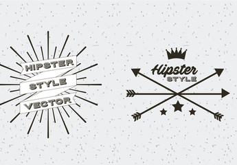4 Black and White Retro Icons