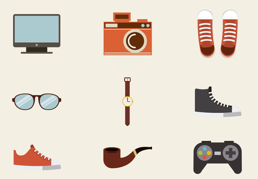 15 Color Trendy Lifestyle Icons