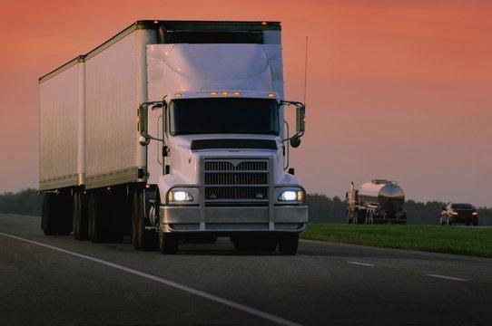 Truck Hauling A Load
