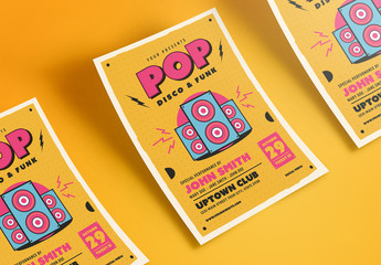 Pop, Disco, and Funk Music Flyer